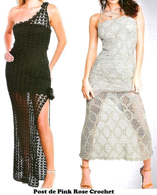 Vestidos de Croche . PRose crochet (537x666, 81Kb)