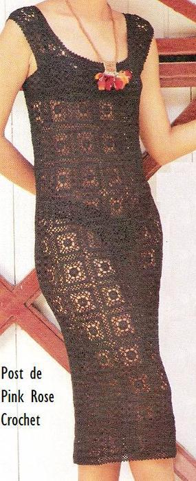 Vestidos Squares de Croche - PRose Crochet (285x700, 53Kb)