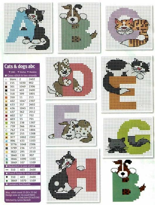动物字母绣 - maomao - 我随心动