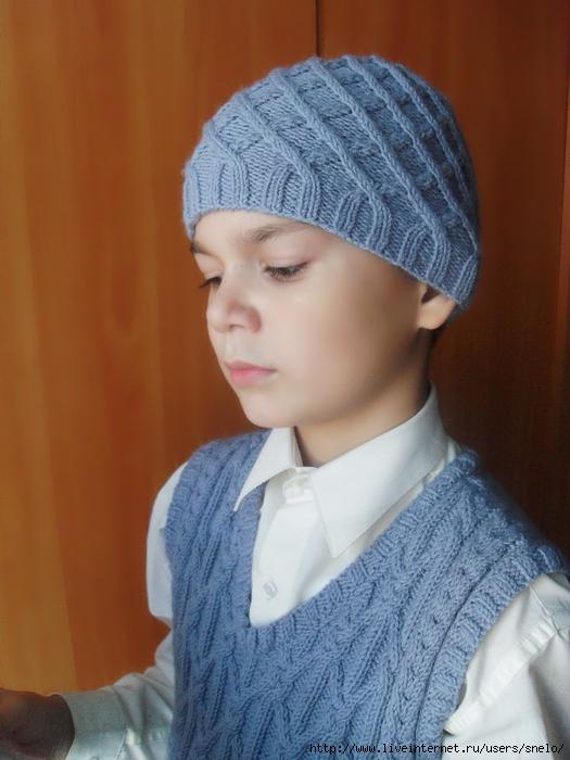 Вязаные на спицах костюмы для малышей схема 21