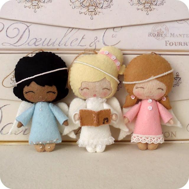 Ангелочки своими руками из фетра фото