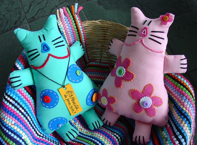 Мягкие игрушки - кот и пес/b. Яркие.