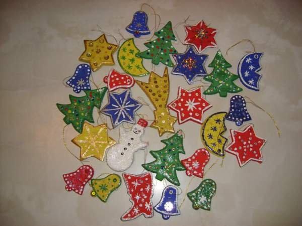 Новогодние игрушки своими руками из солёного теста