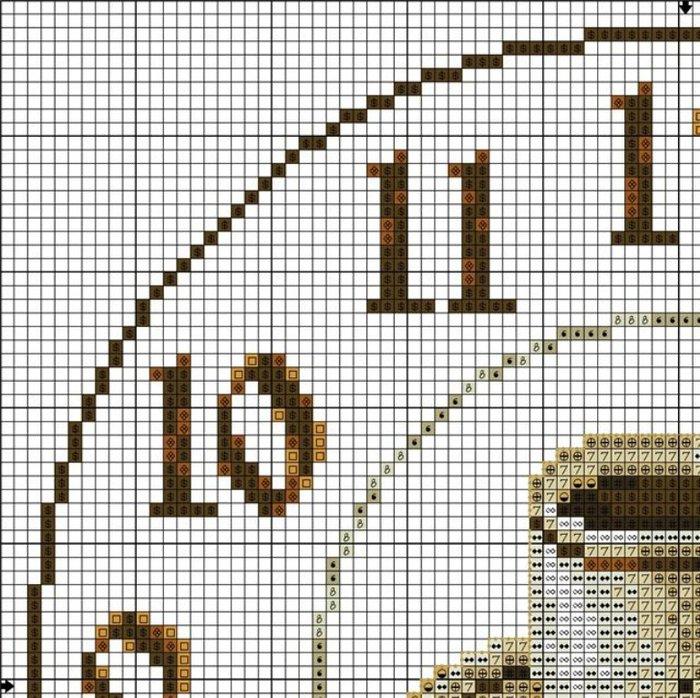 Схема...  Часть 8 - 75 кофейных схем.  Вышивка крестом, схемы.  Часть 9 - Чашка кофе.