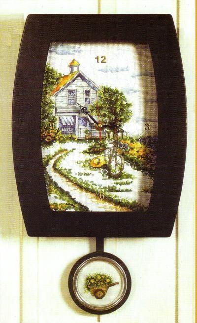 Схемы для часов вышивки крестом.