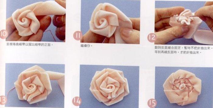 Как сшить цветы из лент