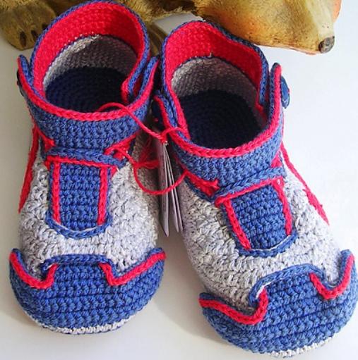 儿童鞋 钩法 制作过程