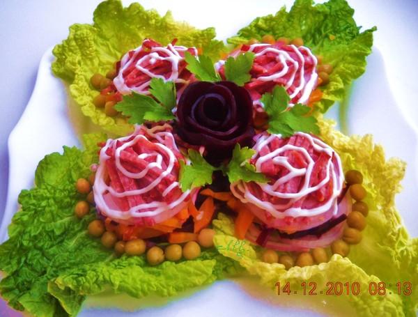 Красивые салаты порционные