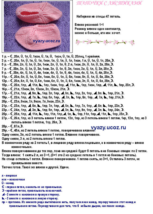 Вязание следковописание 68