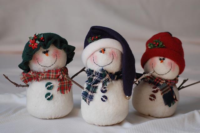Снеговик своими руками по фото