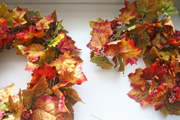 Как сделать на голову венок с листьев