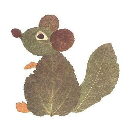 Для аппликации из листьев понадобится картон или плотная бумага - любая по цвету и... Оригинальные поделки...