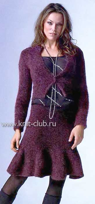 Схема вязания юбки плиссе на спицах