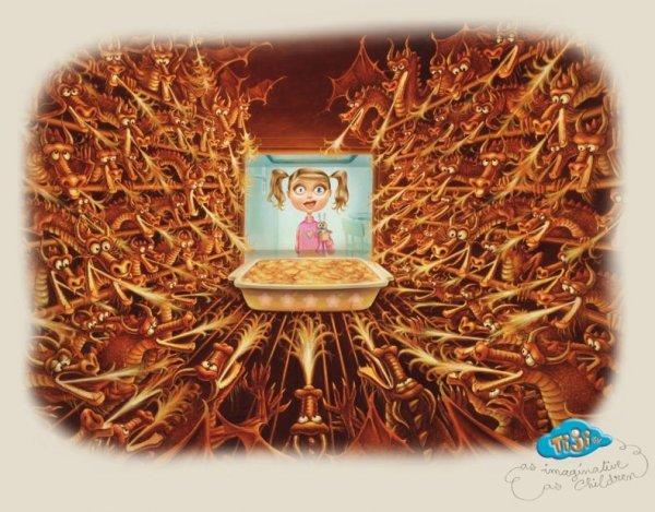 Пьерретта Диас креативная реклама TiJi (600x469, 76Kb)
