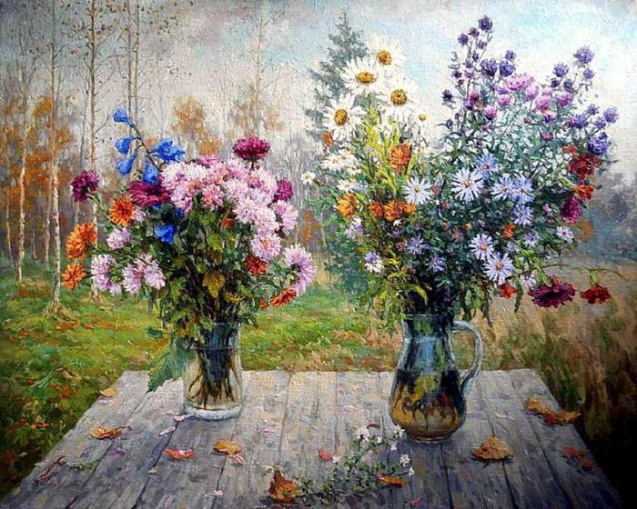 Никита Фомин. Осенние цветы (700x560, 103Kb)