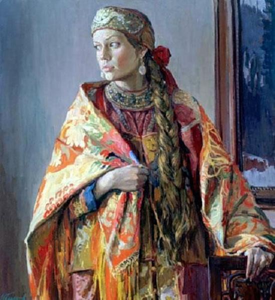 Глазунов Иван Ильич  В каргопольском костюме (549x600, 54Kb)