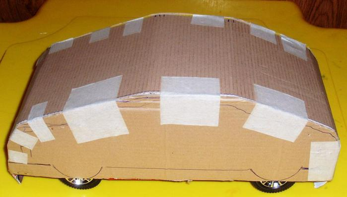 Машинка из конфет своими руками фото схемы