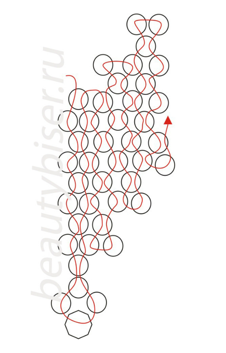 Плетем основу колье на нитке, до необходимой длины.  Пришиваем замочек.  2 этап - отделка основы колье На данном...