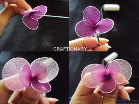 Пошаговое цветы из капрона