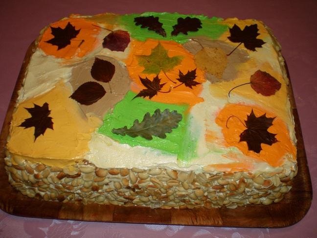 рецепт приготовления торт листопад