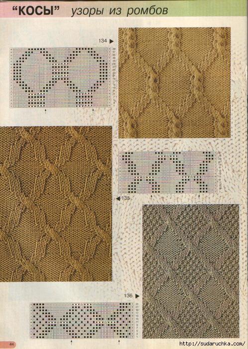 Косы - узоры для вязания