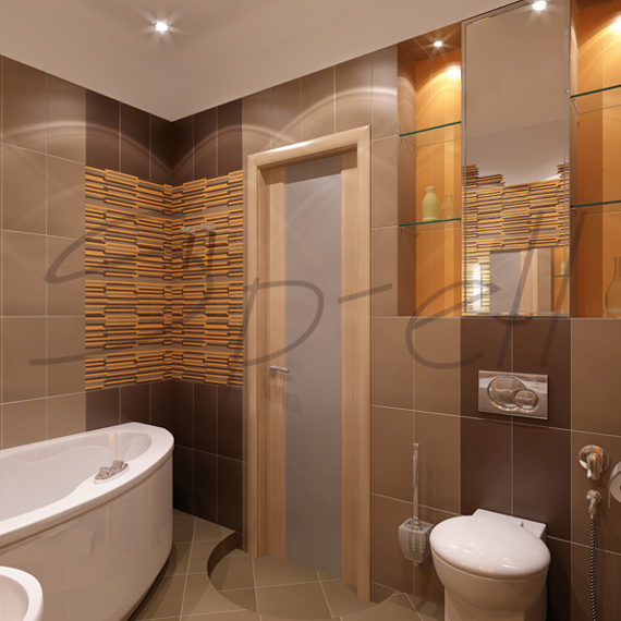 3 проекта ванных от компании AV-Kube.