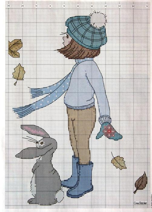 Девочка с зайчиком.