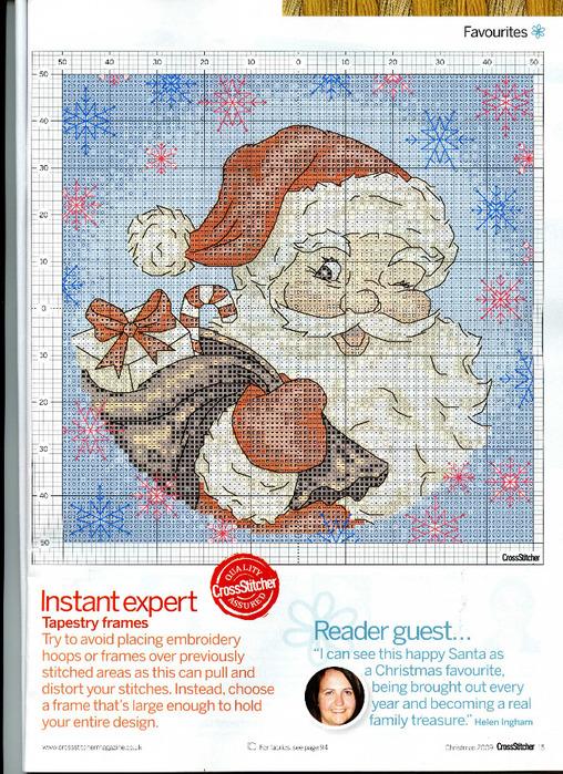 Санта-клаус схема вышивки