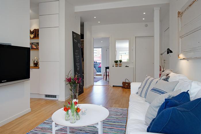 красивый дизайн для маленькой квартиры фото 1 (700x465, 197Kb)