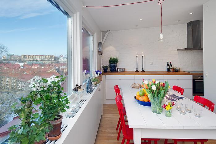 красивый дизайн для маленькой квартиры фото 3 (700x465, 253Kb)