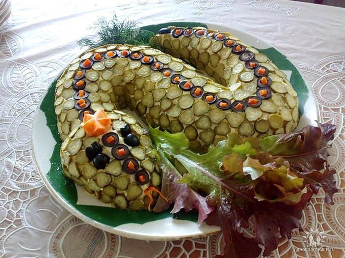 Салат змея и рецептами