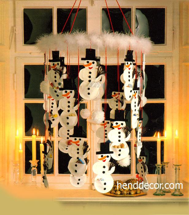Декор снеговик своими руками
