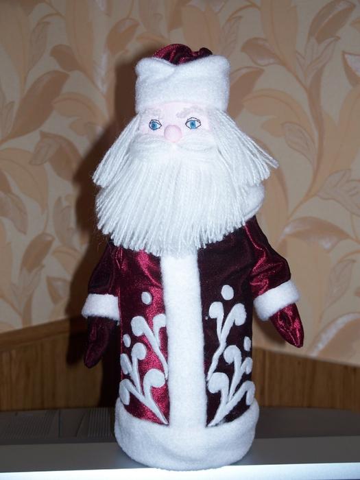 Дед мороз из пластиковых бутылок своими руками мастер класс фото