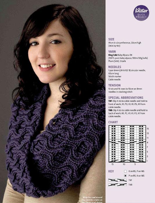 вязание шапка шарф накидка