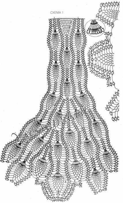 Вязаные длинные юбки спицами - 0