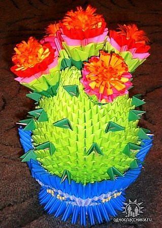 Поделка ваза с цветами из бумаги своими