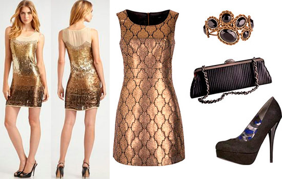 золотое платье для встречи нового года змеи. золотое короткое платье для...