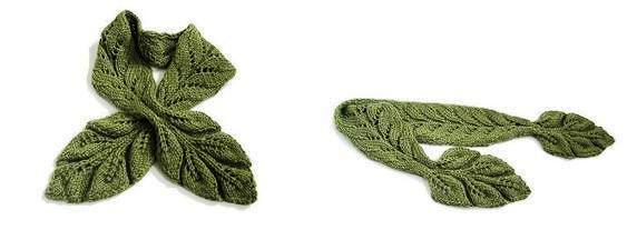 几款叶子围巾 & 披肩_编织人生论坛