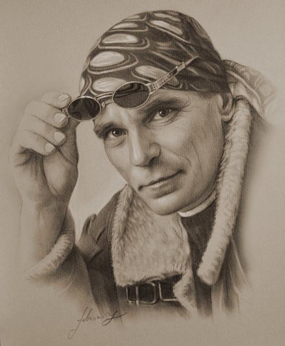 портреты простым карандашом15 (576x700, 235Kb)