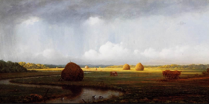Martin Johnson Heade Sudden Shower, Newbury Marshes Painting anysize 50% off (700x349, 297Kb)