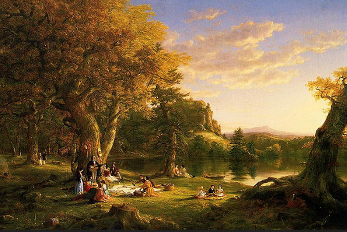 Thomas Cole The Picnic Painting anysize 50% off (700x468, 641Kb)
