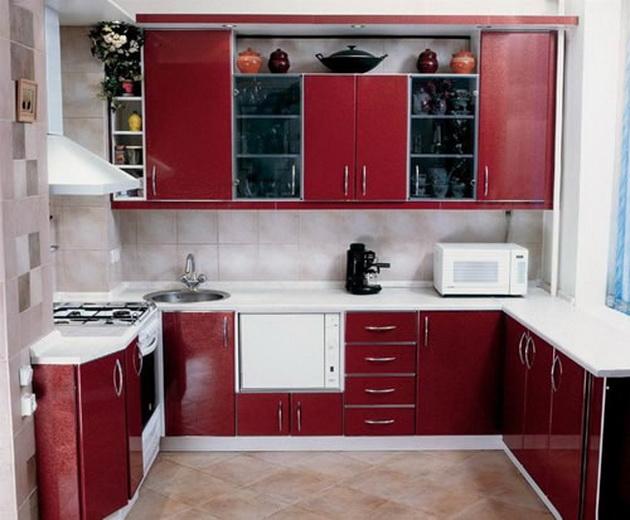 Дизайн кухни цветы