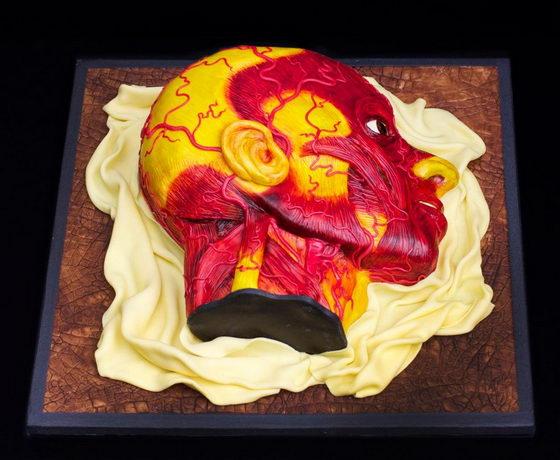 необычный торт голова  (560x460, 51Kb)