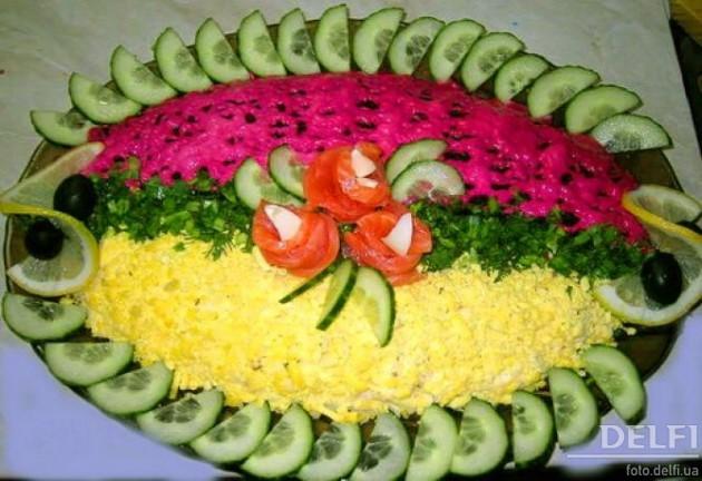 как украсить салаты фото