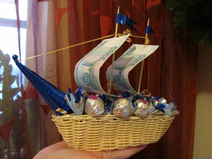 Подарки из денег на свадьбу своими руками