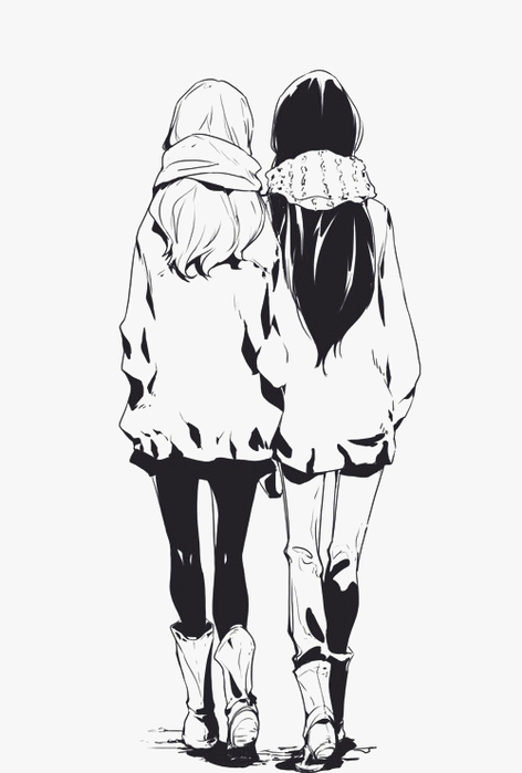 2 девушки аниме: