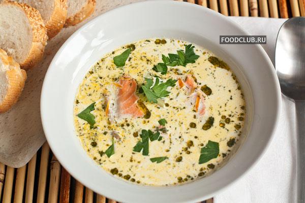 суп сливочный с форелью рецепт с фото