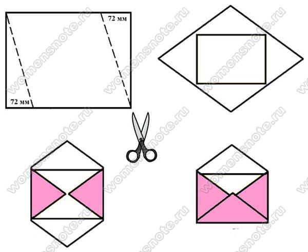 Как сделать из бумаги конверт почтовый