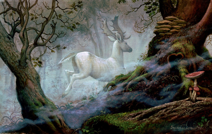 F017_White Stag 2.jpg - Grand Collection by Ruth Sanderson - Изображения и картинки.