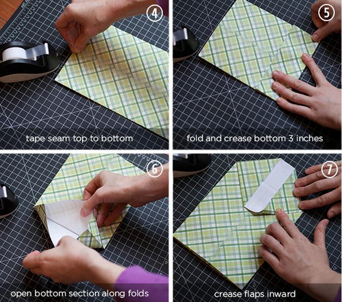 Сделать бумажный пакет своими руками фото